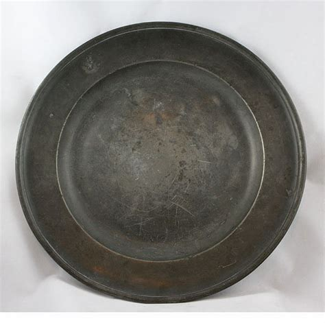 15 diameter pewter charger for sale antiques