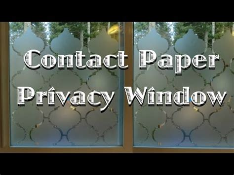 How To Make A Paper Window - privacy window using contact paper
