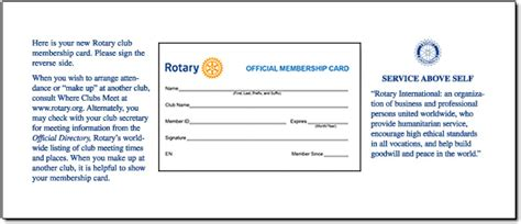 Rotary Membership Card Template by Rotary Club Membership Cards Home Page