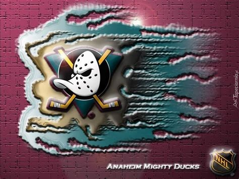 Kaos Anak Mighty Ducks Anaheim Logo logo drużyny nhl anaheim mighty ducks