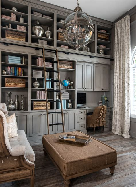 office library dura supreme cabinetry library in heritage paint gray