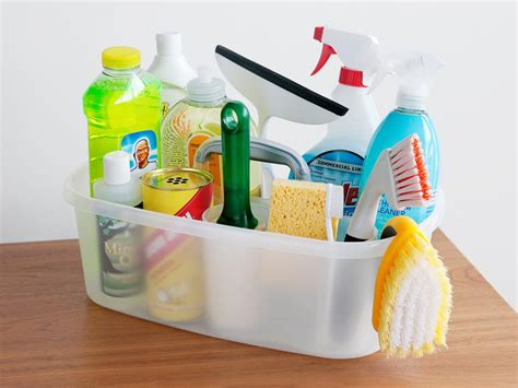 essential home items sabrina soto s cleaning caddy essentials hgtv