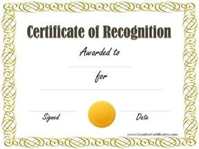 printable certificate of recognition templates free certificate of recognition template beepmunk