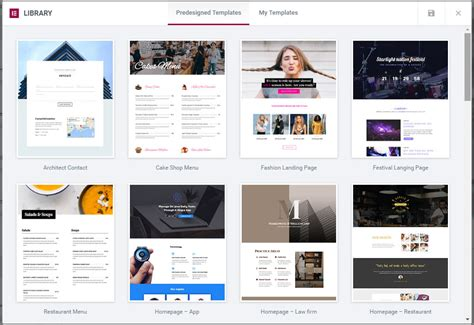Elementor Template Library Elementor Pro Review A New Powerful Wordpress Page Builder Plugin