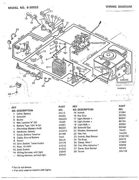 murray mower electrical wiring diagram wiring