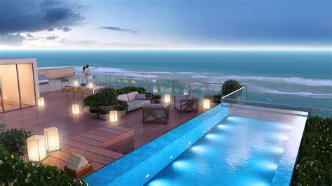 luxury penthouse with terrace and swimming pool for sale in tribeca waterfront property for sale in south florida buy a home