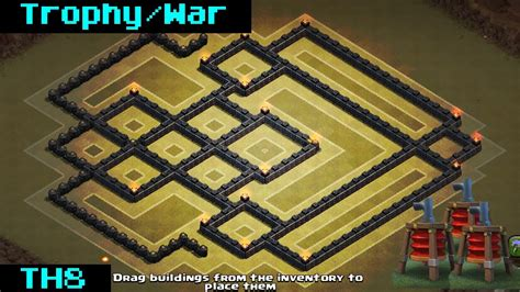 go wipe sweeper anti war air base th8 clash of clans th8 anti air war base 2015 sweeper