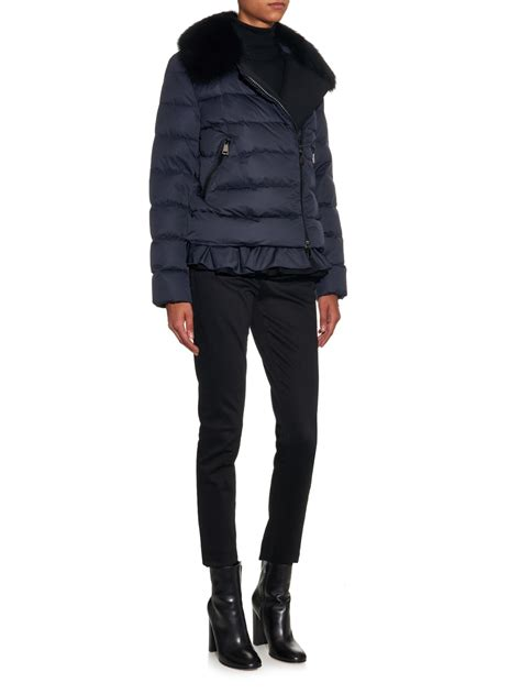 Outerwear Quilted Jackets by Moncler Nesea Quilted Jacket In Blue Lyst