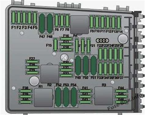 fuse box diagram audi   p