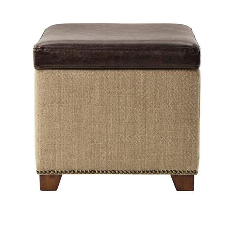 Ottoman Store Home Decorators Collection Ethan Brown Storage Ottoman 7159100740 The Home Depot
