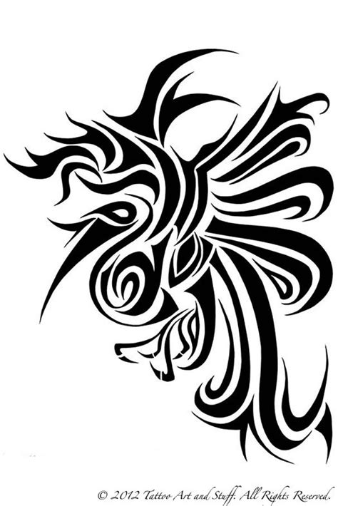black and white phoenix tattoo designs black and white tattoos models picture