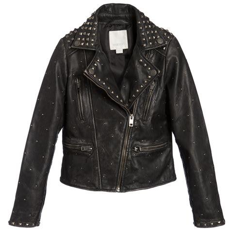 black leather biker jacket diesel black studded leather biker jacket