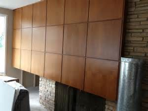 modern wood paneling for fireplace wall covering