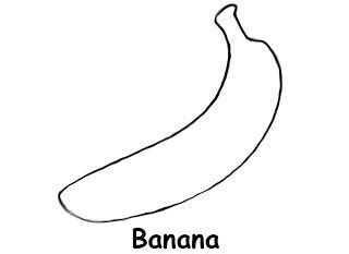 banana template banana colouring page also works well as a printable