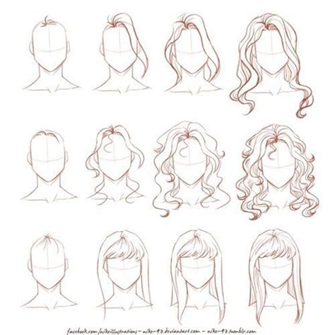 hairstyles drawing tutorials how to draw hair step by step image guides