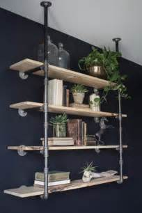 pipe shelves diy diy open pipe shelving magnolia homes