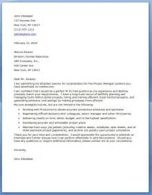 Cover Letter For Project Management project manager cover letter exles resume downloads