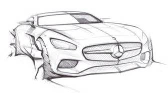 mercedes amg gt previewed in official sketches