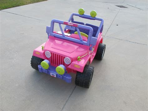 barbie jeep power wheels power wheels barbie jammin jeep floor model