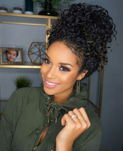 pics of black women pretty big hair buns with added hair best 25 black curly hairstyles ideas on pinterest