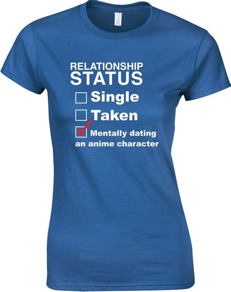 Anime T Shirts Uk by Mentally Dating An Anime Character Printed T Shirt