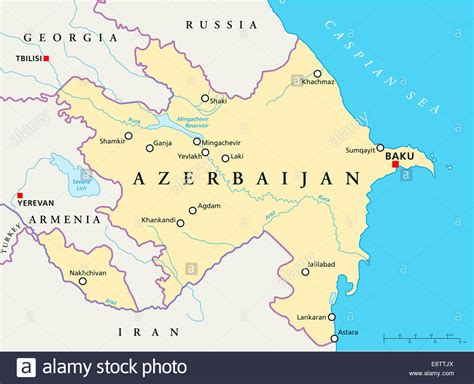 political map of azerbaijan nations online project azerbaijan political map with capital baku national