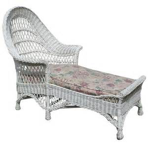 Wicker Chaise Lounge Bar Harbor Wicker Chaise Lounge At 1stdibs