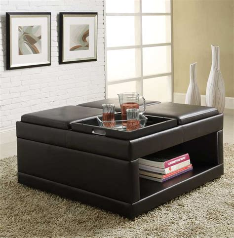 what elements defined ottoman homelegance fleming cocktail ottoman with 4 trays 4732pu