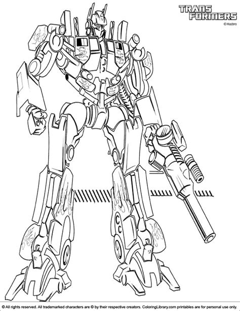 Transformers 5 Coloring Pages by Transformers Coloring Picture Coloring Home