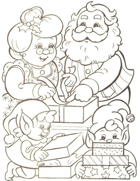 coloring pictures of santa and mrs claus pinterest the world s catalog of ideas
