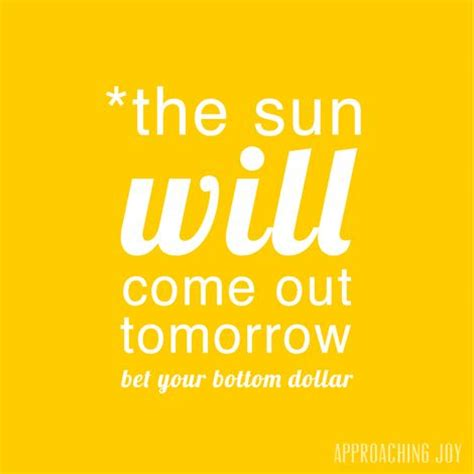 The Sunll Come Out Tomorrow by The Sun Will Come Out Tomorrow Soft