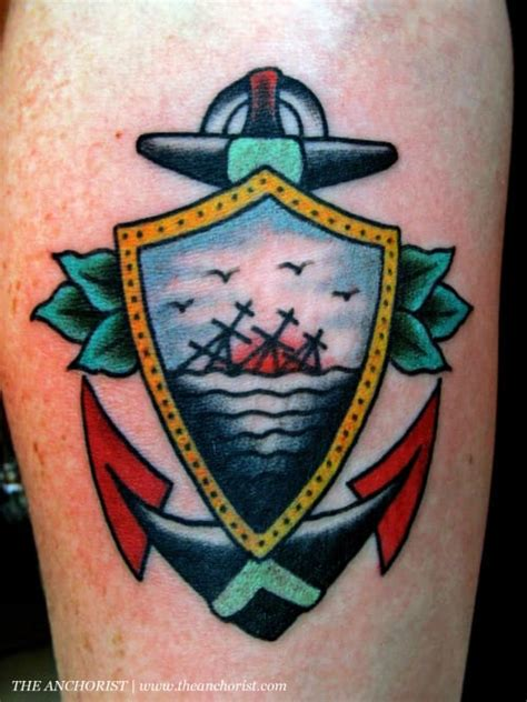 sinking ship tattoo 18 beautiful creative anchor tattoos tattoodo