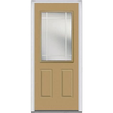 32 X 73 Exterior Door Mmi Door 32 In X 80 In Gbg Right 1 2 Lite 2 Panel Classic Painted Fiberglass Smooth