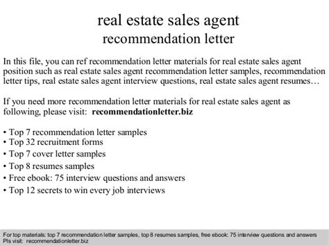 letter of recommendation for real estate letter of recommendation