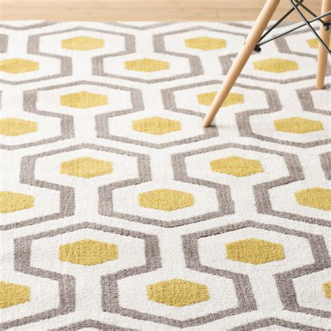 Gray And Yellow Kitchen Rugs Langley Noam Tufted Beige Gray Yellow Area Rug Reviews Wayfair