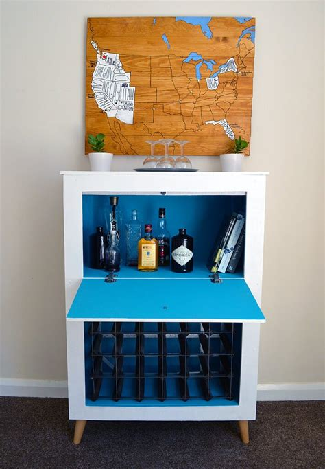 Diy Drinks Cabinet by How To Build A Mid Century Modern Wine Liquor Cabinet