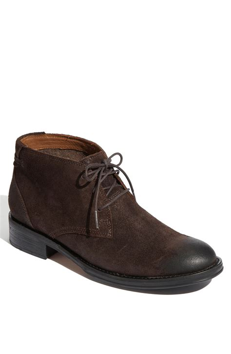 Clarks Chuka Brown clarks maguire chukka boot in brown for brown suede