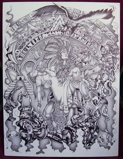 mexican tattoo art mexican aztec aztec drawings page 7 tats