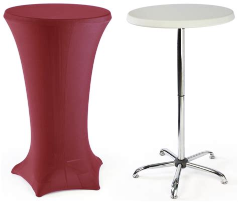 high top table high top cocktail tables red cover