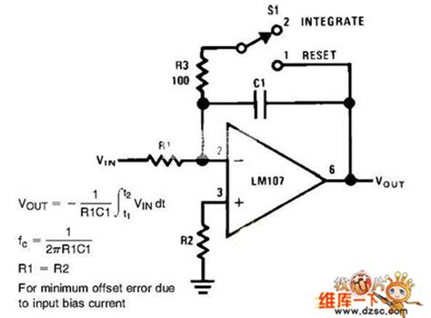 integrator circuit basics integrator circuit diagram basic circuit circuit diagram seekic