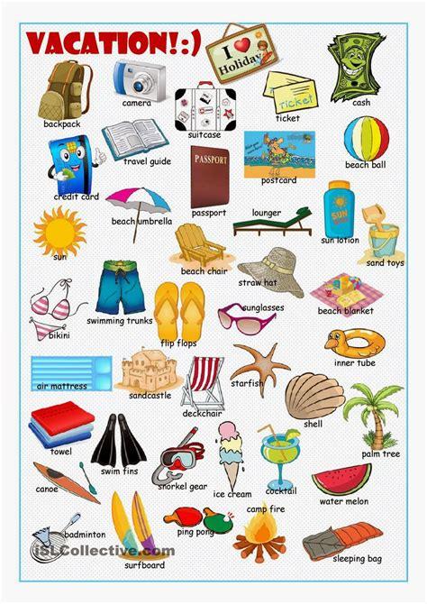 imagenes vacaciones en ingles curso ingles intermedio graus oct 2015 vocabulario