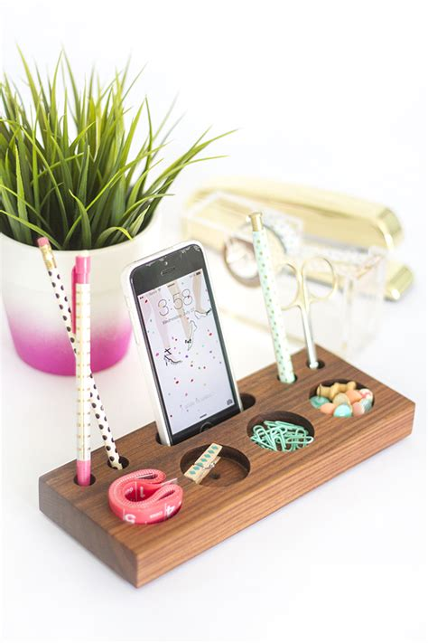 how to make your own diy wooden desk caddy 187 dream green diy