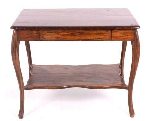 antique oak library table antique oak library table w drawer