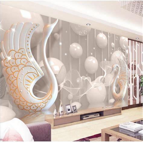 3d Tapeten Schlafzimmer by Aliexpress Buy 3d Wallpaper European White Swan
