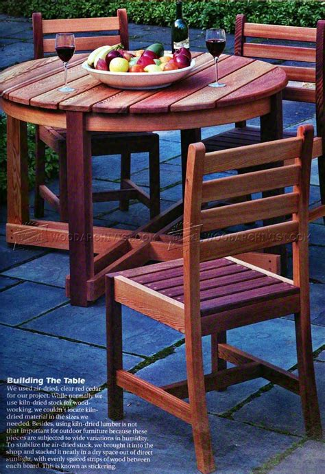 outdoor wood table plans outdoor table and chair plans woodarchivist