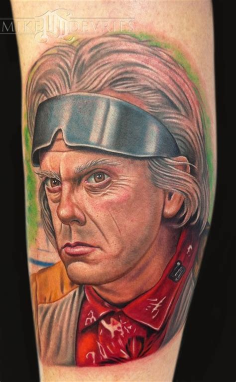 doc tattoo doc brown by mike devries tattoonow