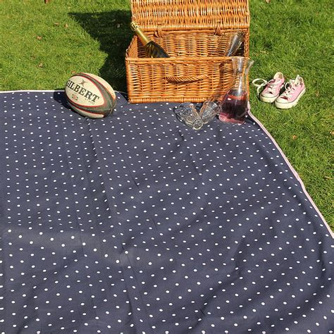 Outdoor Picnic Rug Large Picnic Rug Navy By Just A Notonthehighstreet
