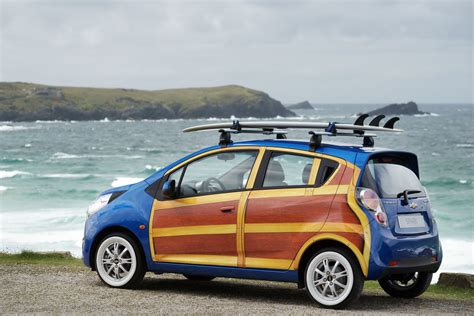 surf car surf s up for chevrolet s spark woody wagon art car