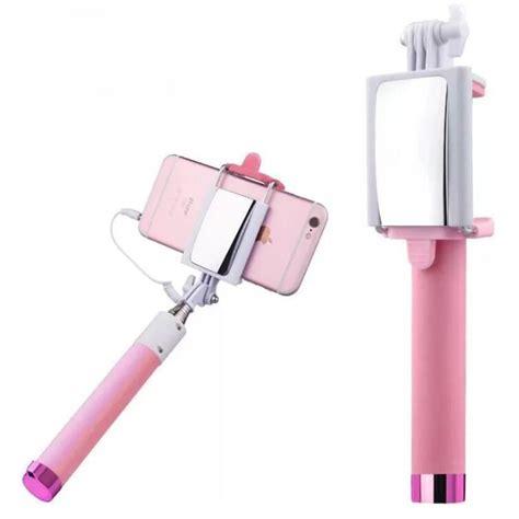 Tongsis 7 Inch jual gadget tongsis dengan cermin ada tombol selfie