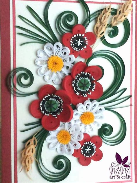 quilling poppy tutorial quilling poppies mimi art craft pinterest quilling